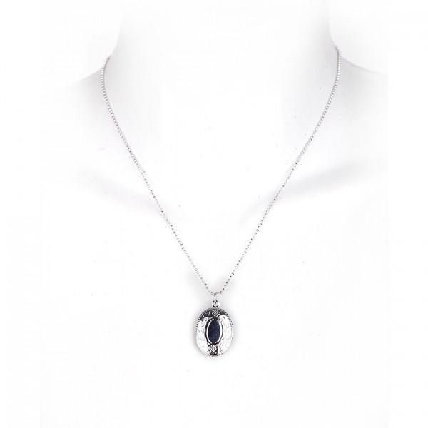 Girly Halskette aus Metall mit Ornament Anhänger