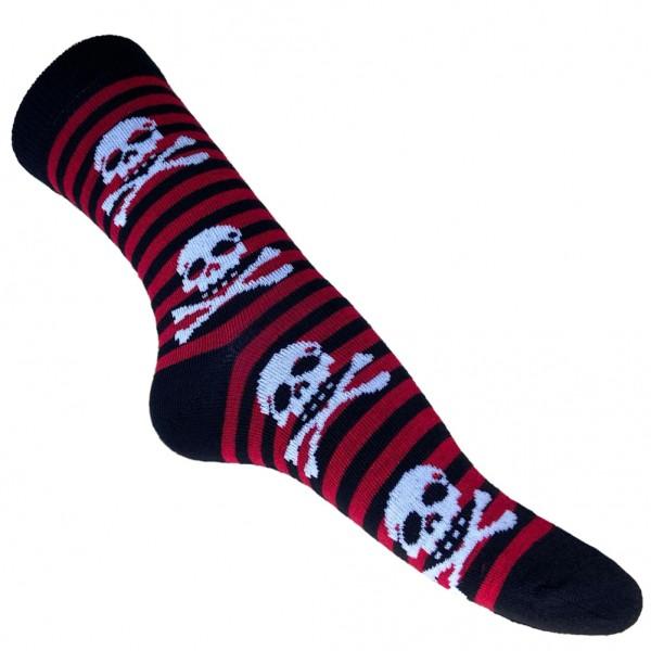 Piraten Skull Socken Gestreift Unisize