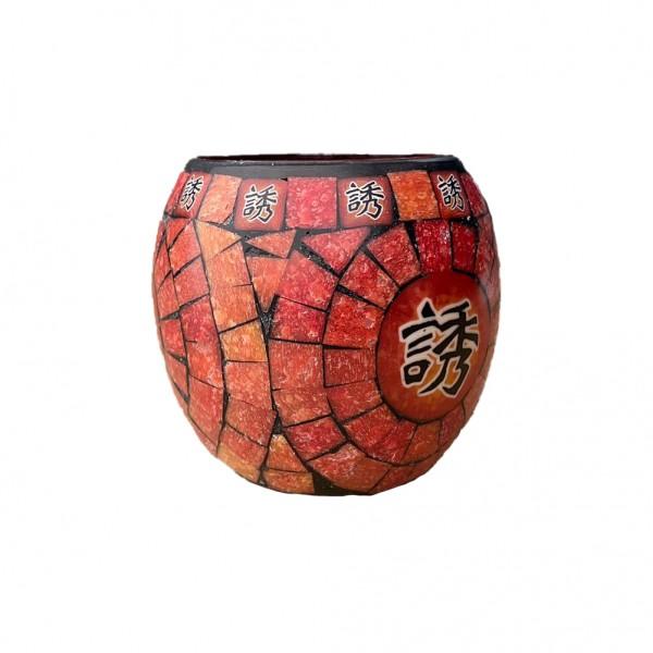 Fimo Glaswindlicht handgemacht mit Chinesischer Schrift