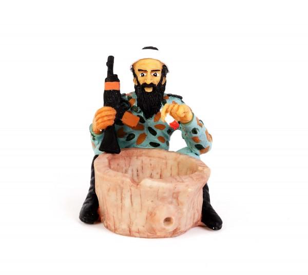 Kiffender Bin Laden Aschenbecher Figur