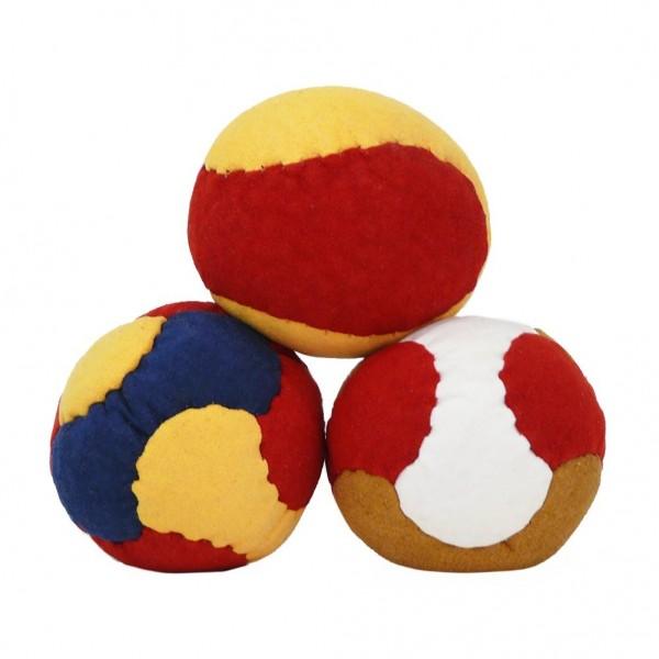 Leder Jonglierball Kickball Wutball 3er Set