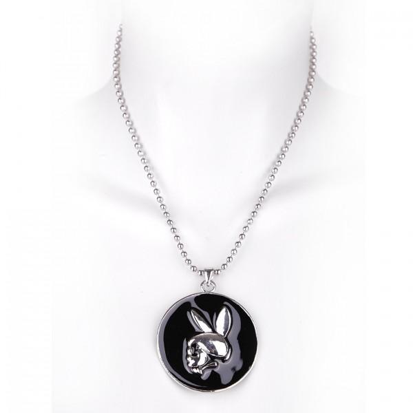 Metallkette mit Anhänger - Totenkopf Bunny