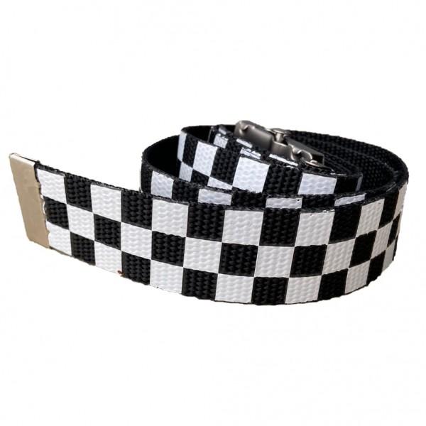 Streetwear Skater Schachbrett Schwarz Weiß Stoffgürtel one size