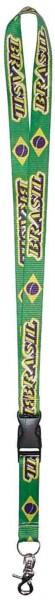Schlüsselhalsband mit Brasilien Flaggen Aufdruck