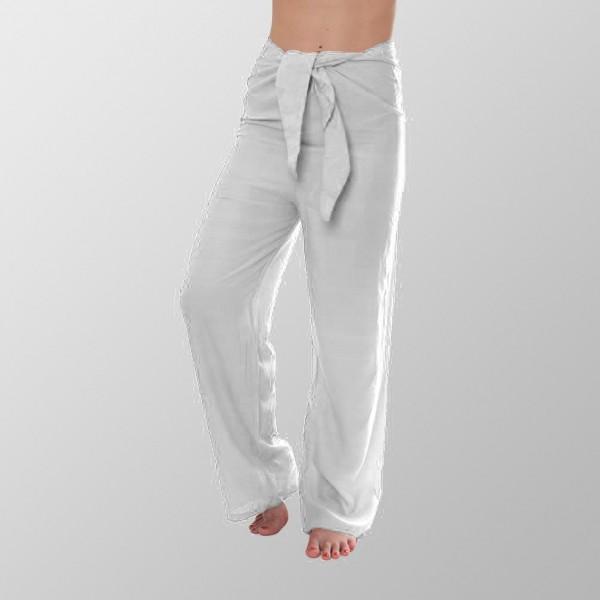 Weiße Unisex Yoga Baumwoll Hosen