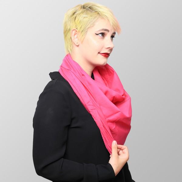 Baumwolltuch in Unifarbenem Rosa Lachs Ton