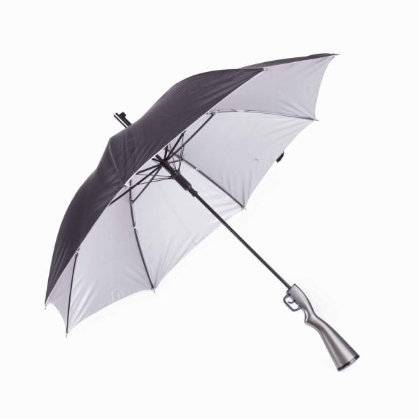 Funny Regenschirm mit Hülle und Tragetasche in Gewehr Optik