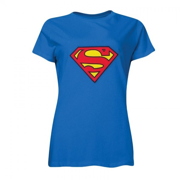 Motiv Shirt Blau Superman Logo