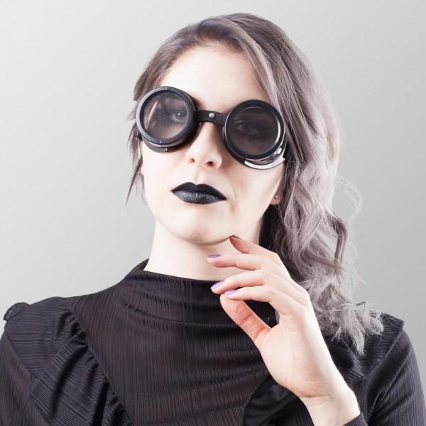 Steampunk Brillen mit Löchern auf beiden Seiten