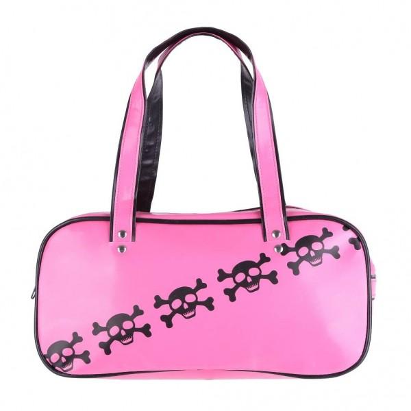 Pink Totenkopf Day Handtasche