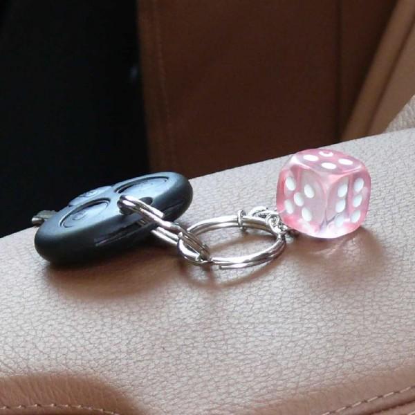 Durchsichtiger Würfel Schlüsselanhänger