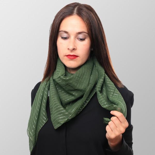 Dunkel Grünes Halstuch mit Lurex
