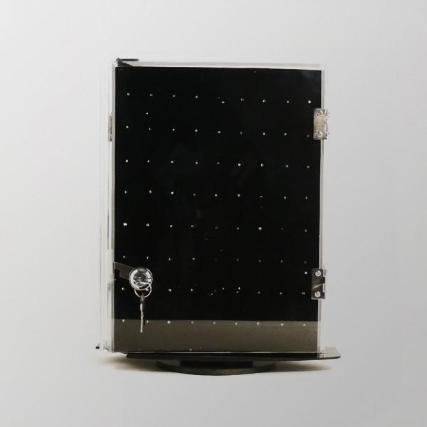 Zweiseitig Rotierendes Piercing Display mit Verschluss für den Kassenbereich