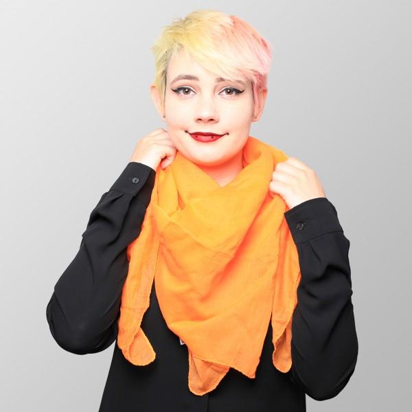 Uni Farbenes Baumwolltuch in Orange