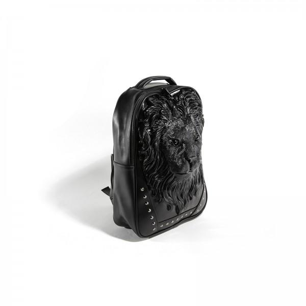 Black Premium 3D Löwen Kopf Rucksack