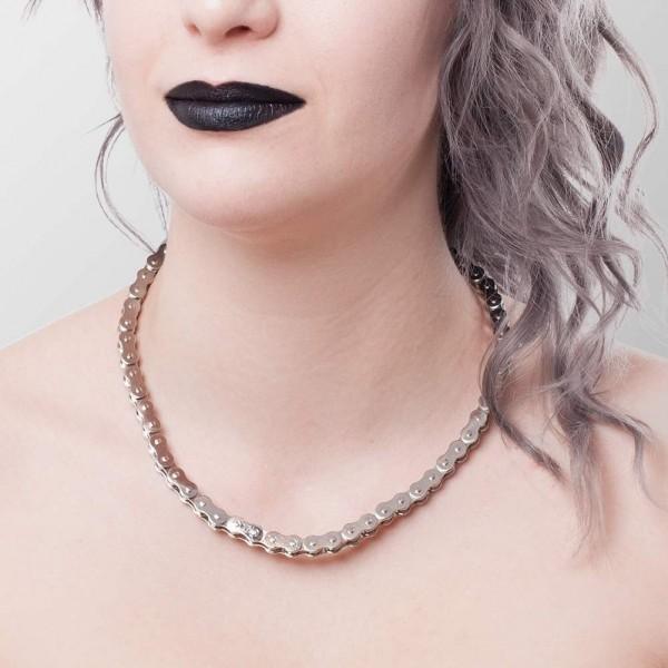 Halskette im Fahrradketten Design