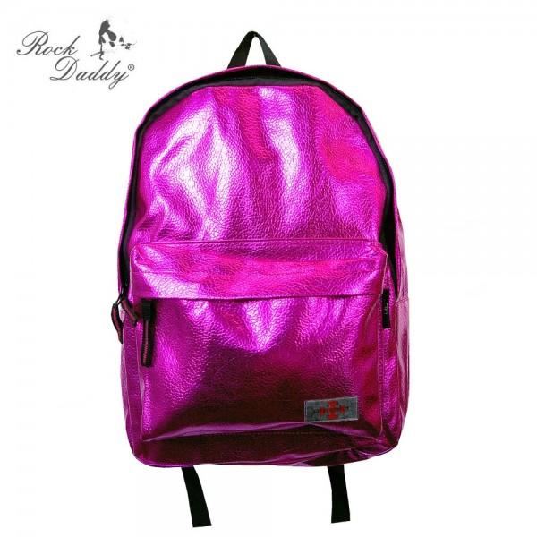 Pinker Metallic Style Rucksack
