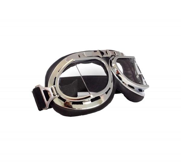 Hochwertige Fliegerbrille im Vintage Retro Design mit Durchsichtigen Gläßern