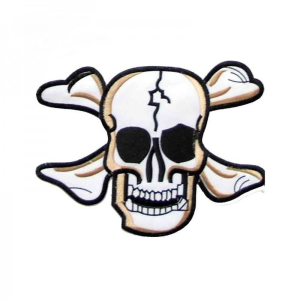 XXL Piraten Knochen Skull Aufbügler Patch