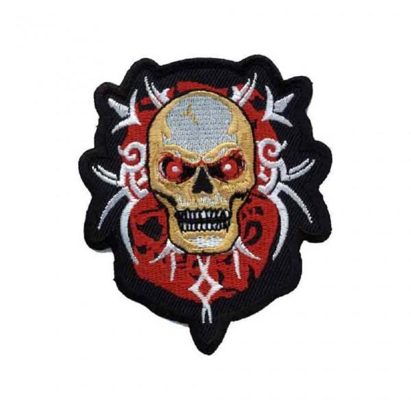 Tribal Totenkopf Aufbügler Patch