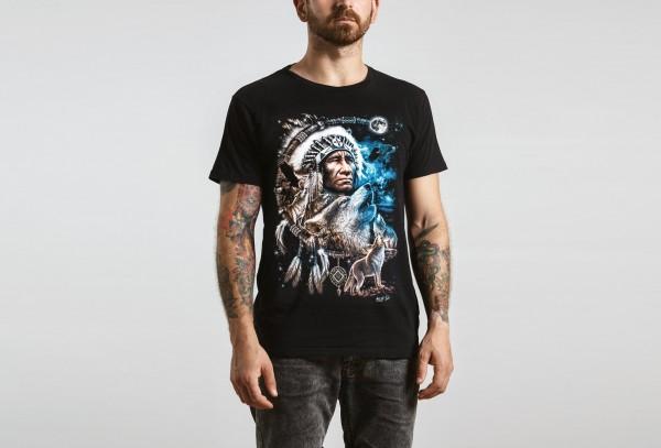 Wild Howlin Wolfs Indianer Häuptling T-Shirt