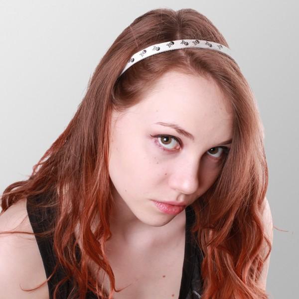 Rocker Totenkopf Haarreifen