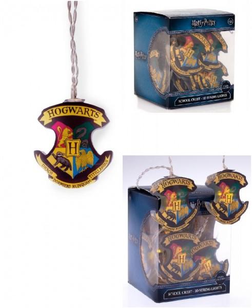 Harry Potter Hogwarts Wappen 2D Lichterkette