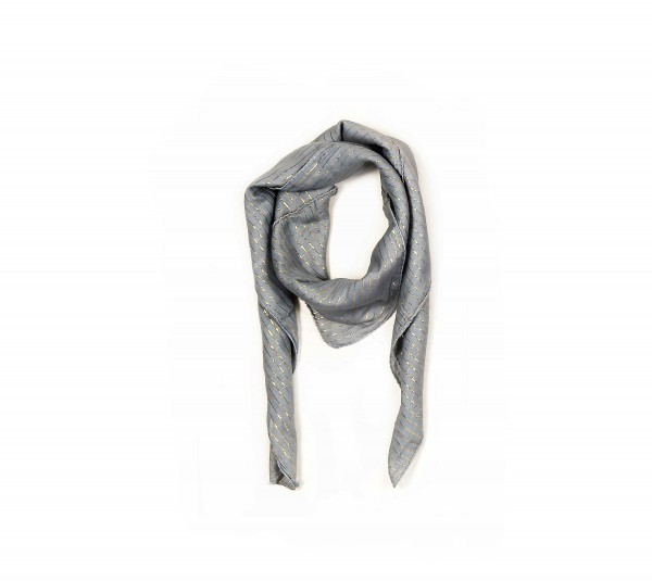 Grau Silbernes Lurex Halstuch in Uni Farben