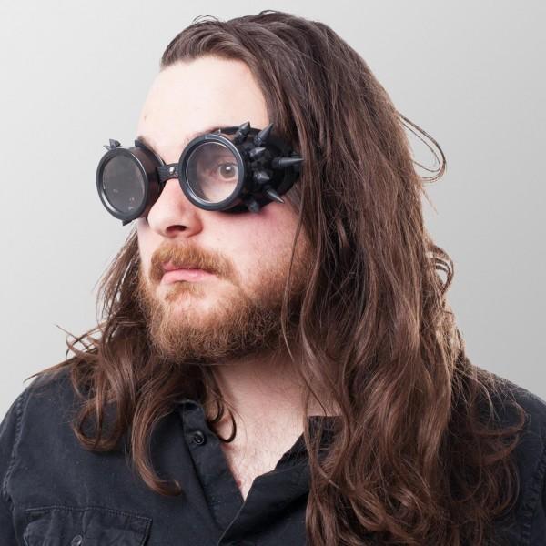 Steampunk Brillen mit Spitzen auf beiden Seiten