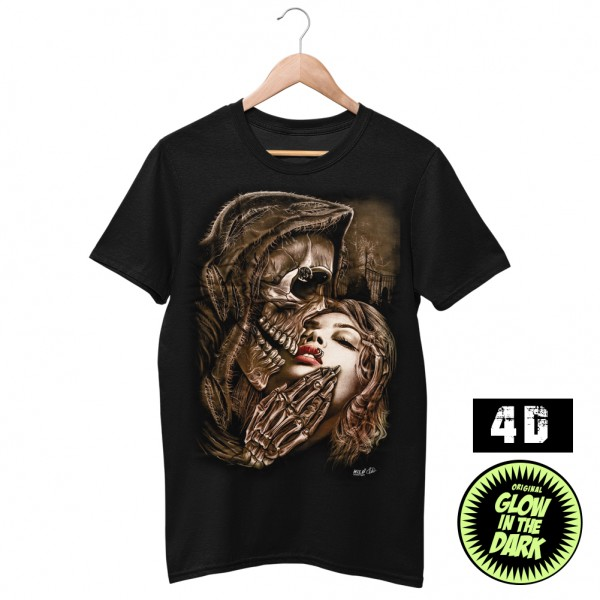 Wild 4D Design Kuss des Todes T-Shirt