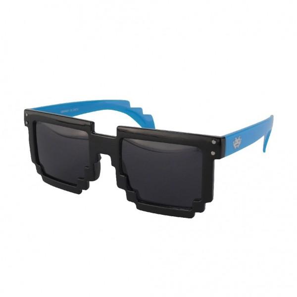 Geekinvader Exclusiv 8 BiTS Nerd Sonnenbrille schwarz blau