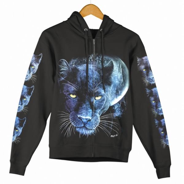 Zipper Hoodie Jacke Black Panther