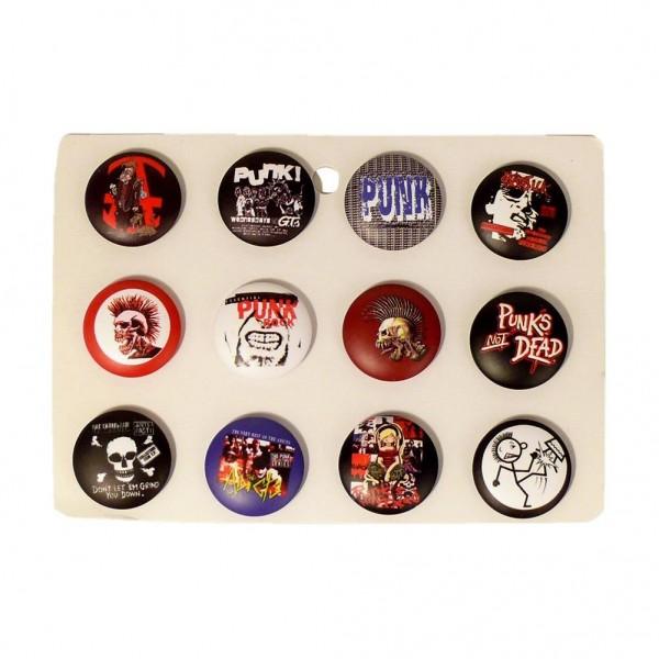 Punk Button Display Gemischt