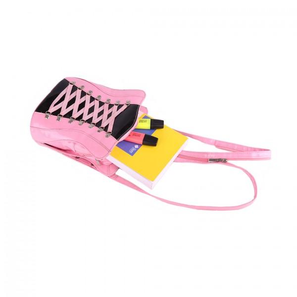 Rucksack Korsett pink lack
