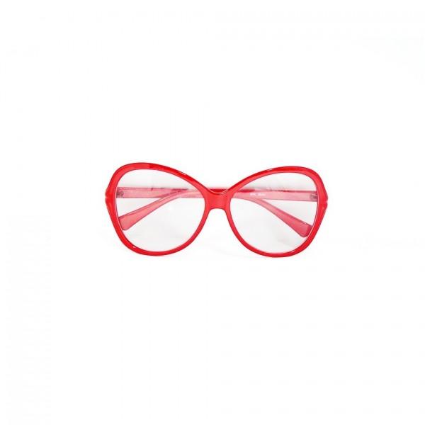 Spaßbrille Rot Nerd