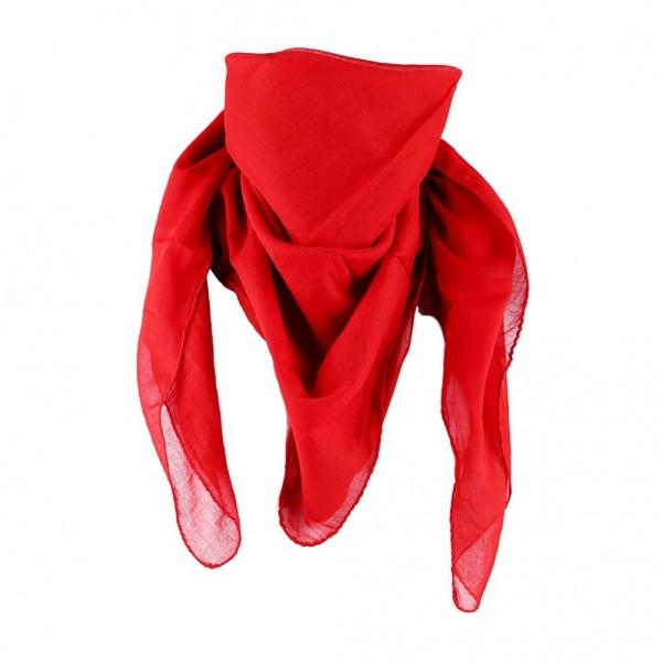 Baumwolltuch in Uni Rot