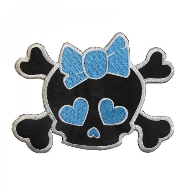 XXL Love Skull Aufbügler mit Herz Augen