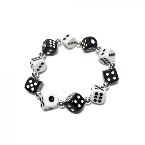 Würfel Armband mit kleinen Perlen