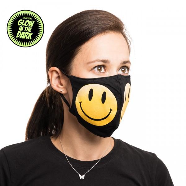 Smiley Glow in the Dark Stoffmaske