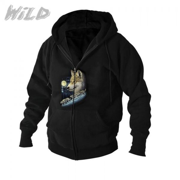 Hoodie Jacke Wild Wolfs