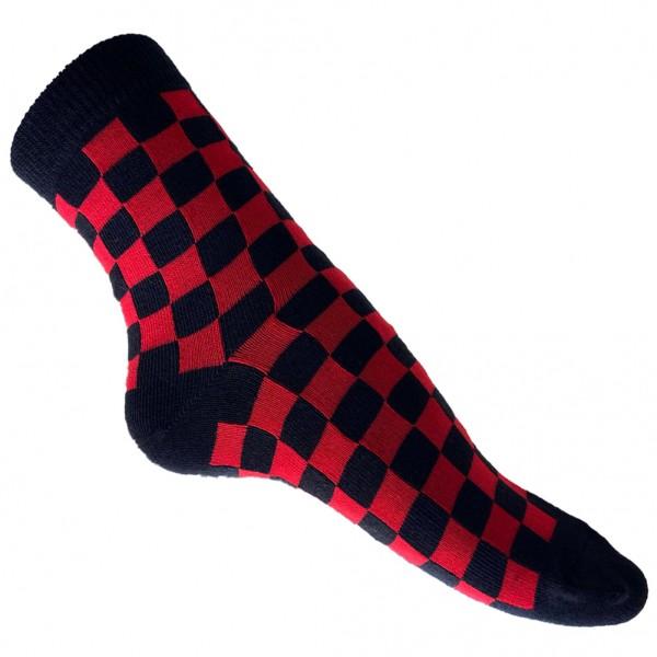 Kurzschaft Socken Schwarz Rot Kariert one size