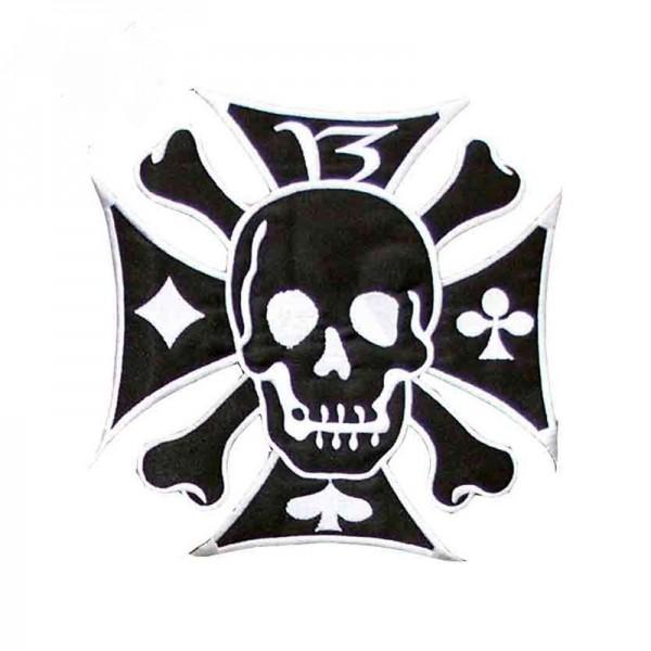 Eisernes Kreuz mit Piraten Skull
