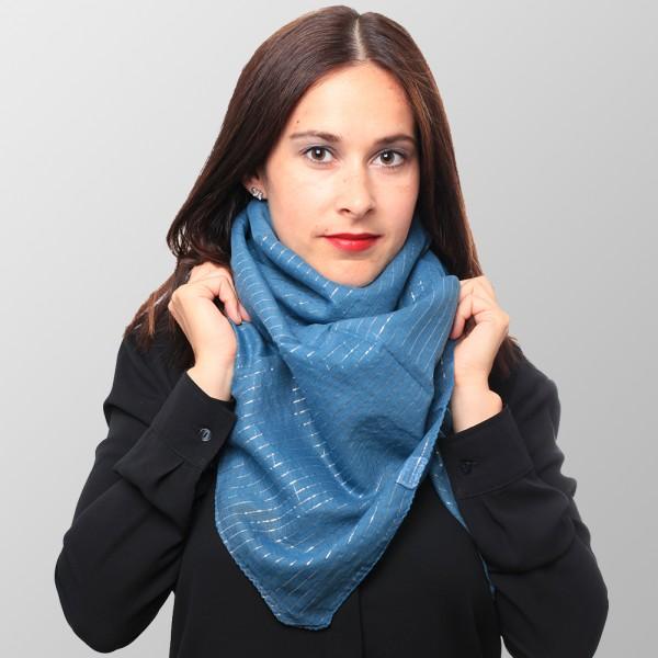Blue Velvet Lurex Halstuch aus Baumwolle