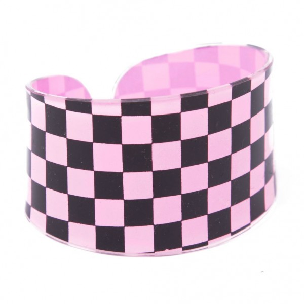 Pink Karo Prinzessin Armband